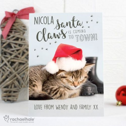Rachael Hale Santa Claws Christmas Cat Card